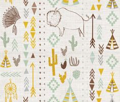 southwestern fabric by laura_the_drawer on Spoonflower - custom fabric