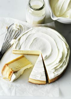 classic lemon cheesecake.