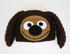 Rowlf the Dog ~ Muppet ~ Sesame Street  Beanie Hat Crocheted...inspiration for a Golf Head Cover