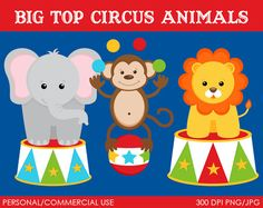 He encontrado este interesante anuncio de Etsy en https://www.etsy.com/es/listing/57189471/big-top-animals-clipart-digital-clip-art