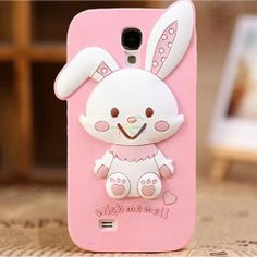 Charming Cute Cartoon Character Rabbit Design Case Cover for Samsung Galaxy Cute Cartoon Characters, Disney Characters, Samsung Galaxy S4 Cases, Design Case, Hello Kitty, Minnie Mouse, Smartphone, Phone Cases, Cover