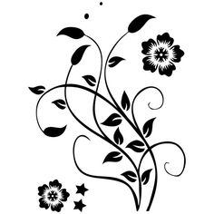 Flower Silhouette, Flower Tattoos, Projects To Try, Floral, Flowers, Home Decor, Tattoo Inspiration, Glass Art, Vinyls
