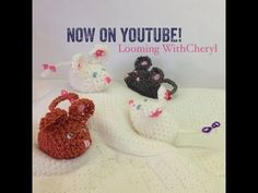 Rainbow Loom Mouse - Loomigurumi - Looming With Cheryl. Loomigurumi Tutorial is Now on YouTube! Charms / figures / gomitas / gomas / Animals / Amigurumi. Crochet hook only. Please Subscribe ❤️❤ m.youtube.com/user/LoomingWithCheryl