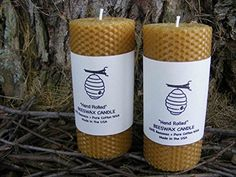 """100% Beeswax Pillar Candles - Set of Two - 5.5"""" Pillars - Raw Beeswax - With Free upgrade to USPS Priority Mail * Check this awesome product by going to the link at the image."""
