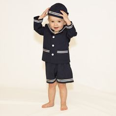 old-fashioned sailor suit for little boy