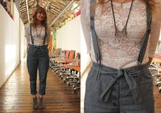 Office Style: Denim and Lace  http://blog.freepeople.com/2012/03/office-style-denim-lace/