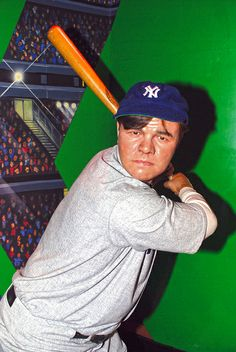 """Babe Ruth at Madame Tussaud's Wax Museum in Las Vegas Nevada. Bat along side the """"Great Bambino. Museums In Las Vegas, 4x6 Postcard, Wax Museum, Madame Tussauds, The Outfield, Babe Ruth, Las Vegas Nevada, Sports Stars"""