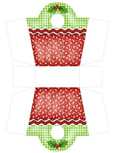Christmas gift box purse free PDF printable