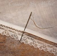 bridging Tutorial.. an old technique used to attach lace or a tiny bias band to fabric