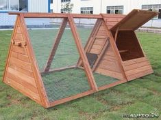 I like this coop because you can stand in it. If you buy a coop dont buy one made of pressed wood or plastic. The rabbits will chew and they cant digest that stuff. It clogs up their intestinal system and they die. A Frame Chicken Coop, Chicken Fence, Portable Chicken Coop, Best Chicken Coop, Backyard Chicken Coops, Chicken Coop Plans, Building A Chicken Coop, Chickens Backyard, Chicken Coop Designs