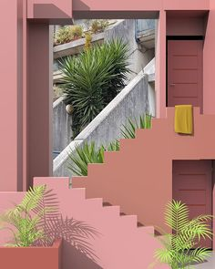 Modernist Illustrations by Tishk Barzanji Architecture Design, Minimalist Architecture, Beautiful Architecture, Ricardo Bofill, Minimalist Photography, Photo Wall Collage, Urban Landscape, Pink Aesthetic, Aesthetic Wallpapers