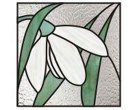 Easy Stained Glass Patterns | ... snowdrop flower easy stained glass pattern []$2.50 | PDQ Patterns
