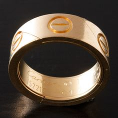 Cartier. #gold #ring