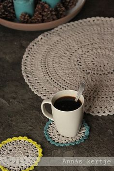 Simple big doily and coasters