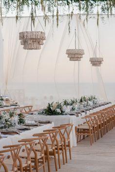Beach Wedding Aisles, Luau Wedding, Wedding Receptions, Reception Decorations, Wedding Centerpieces, Table Decorations, Reception Design, Wedding Designs, Wedding Inspiration
