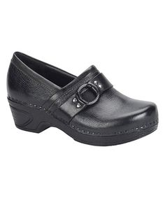 Loving this Black Berit Leather Clog on #zulily! #zulilyfinds