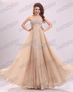 61db614a49 Wholesale Real Image Gorgeous Champagne Sweetheart Beads Pleats Long A-line  Prom Dresses Evening Gowns CD8348, Free shipping, $104.16 | DHgate -  Bridesmaid ...