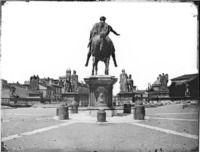 Roma - Piazza del Campidoglio, statua equestre dell'imperatore Marco Aurelio Cronologia del fototipo sec. XIX seconda metà