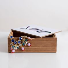 Leah Flores XOXO Jewelry Box | DENY Designs Home Accessories #DENYholiday  #shopsmall #madeinamerica #gift
