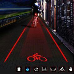 details zu mtb fahrrad bike r cklicht 2 laser 5 led. Black Bedroom Furniture Sets. Home Design Ideas