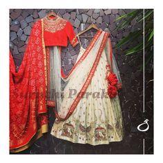 Ideas for bridal lehenga indian sketch Lehenga White, Red Lehenga, Lehenga Dupatta, Ghagra Choli, Indian Lehenga, Anarkali, Indian Dresses, Indian Outfits, Indian Clothes