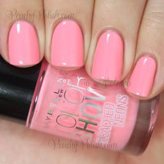 Maybelline Color Show Pink Punch   Summer 2014 Bleached Neons   Peachy Polish