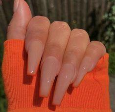 Acrylic Nails Coffin Short, Simple Acrylic Nails, Summer Acrylic Nails, Best Acrylic Nails, Simple Nails, Coffin Nails, Classy Nails, Nails Yellow, Nagellack Design