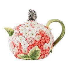 Fitz and Floyd 20-323 Hydrangea Teapot - http://teacoffeestore.com/fitz-and-floyd-20-323-hydrangea-teapot/