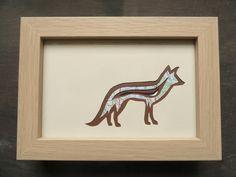 Framed Original Fox Paper-cut Artwork via The Red Corvid Art, £45.00. http://theredcorvidart.tictail.com/product/framed-original-fox-paper-cut-artwork-904173 ~ Click through for more info ~