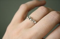 Beach Bubbles Ring in Sterling Silver