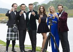 David Beckham at a photocall during the filming of a Diageo advert from its new single grain whisky, Haig Club, which the former footballer endorses