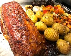 Scones, Baked Potato, Pork, Food And Drink, Chicken, Meat, Baking, Ethnic Recipes, Forslag