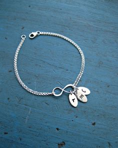 Personalized Infinity Bracelet Mother by vintagestampjewels