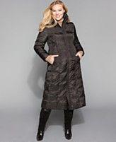 London Fog Plus Size Coat, Long Faux Fur Trim Hood Quilted Down  Reg. $300.00  Was $179.99  Sale $159.99