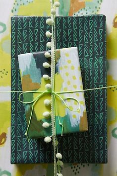 Watercolor Wrapping Paper  anthropologie.com #anthrofave