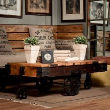 Vintage Industrial Table, Industrial Vintage & Hand Made Furniture, Metal Day Bed   Uniche Interior Furnishings