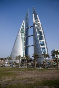 Bahrain World Trade Center - been to the top of these in a crane while they were being built