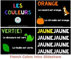 French Colors Slideshare Presentation - les couleurs en français by FOR FRENCH IMMERSION