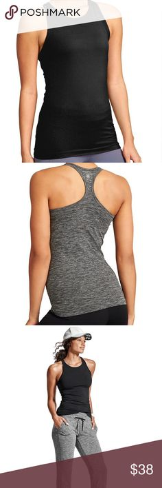 Athleta black renew racerback tank top Fitted renew racerback Athleta tank.Our favorite studio to street tank made from wicking and breathable recycled polyester with a high-neck design. INSPIRED FOR: yoga, studio workouts, adventure To Fro SUSTAINABLE: Made from Recycled Poly. Supremely sleek fabric made from post-consumer plastic bottles lessens our impact on the world. FIT TIP - For skin-tight fit stick with usual size, for looser we recommend sizing up. High-neck front for sleek coverage…