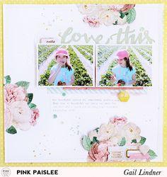 Love This Layout @gail_lindner @pinkpaislee #pinkpaislee #cestlavie #DIY…