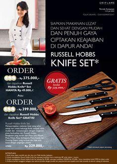 Promo Oriflame Juli 2015 Dapatkan Russell Hobbs Knife Set Senilai Rp 329.000,- GRATIS  Periode 1-31 Juli 2015  #Oriflame   #RussellHobbs   #knife   #free   #juli2015
