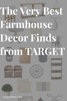 One of my favorite sources for farmhouse decor is Target. They have such a large selection in store and online. Here are some of my favorite collections of that cozy, cottage style, french style feel that I absolutley love from target. From farmhouse tables, linen chairs, whitewash table consoles, clocks and wreaths, it can't get much better than this - and the prices are absolutely awesome! #farmhousestyle