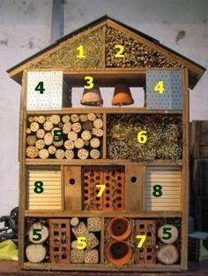Insect hotel - Idées DD Insektenhotel# DIY Garden# DIY Garten#