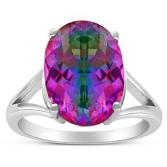 5 1/2 Carat Oval Shape Rainbow Amethyst Ring In Sterling Silver (255 HRK) ❤ liked on Polyvore featuring jewelry, rings, purple, oval stone ring, cocktail ring, purple amethyst ring, amethyst ring and sterling silver jewelry sets