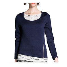 MEXI Women's Cotton Long Sleeve Bottoming T-shirt Fashion Stitching Shirts Top Mexi http://www.amazon.com/dp/B015GQ6V7S/ref=cm_sw_r_pi_dp_2m.-vb0021VAB