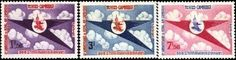 Cambodia Stamps - 1964 , Sc 135-7 8th Anniv Royal Cambodian Airlines - MNH, F-VF by Great Wall Bookstore. $2.85
