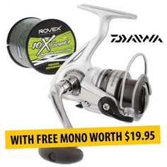 Buy Daiwa LAGUNA LG 5Bi Spinning #Reels With FREE Line offered on February Sale by Dinga Fishing Tackle Shop in Australia!