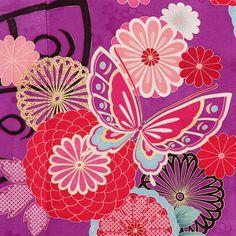 Kimono fabric in purple. It's so beautiful.