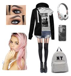 Designer Clothes, Shoes & Bags for Women Blonde Fashion, Beats By Dr, Blondes, Casetify, Topshop, Fashion Looks, Concert, Pretty, Polyvore