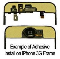 Apple 3G IPhone Glass lens/Digitizer Replacement ADHESIVE KIT    Price = $4.25
